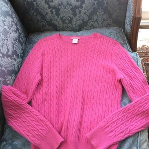 Definite View hot pink cashmere sweater